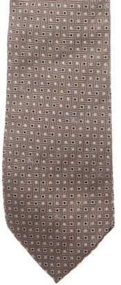 Burberry Geometric & Equestrian Knight Device Jacquard Silk Tie