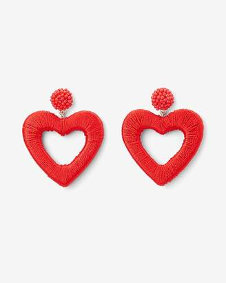Express Thread Wrapped Heart Drop Earrings