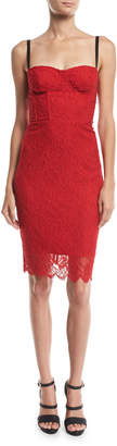 Milly Sweetheart Italian Stretch Lace Dress