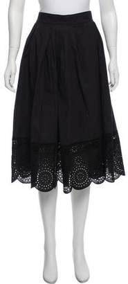 Marc Jacobs Eyelet Accent Midi Skirt