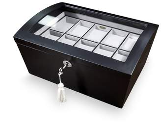 Mele Brenton Glass Top Wooden Watch Box