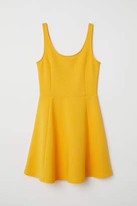 H&M Sleeveless Jersey Dress - Yellow
