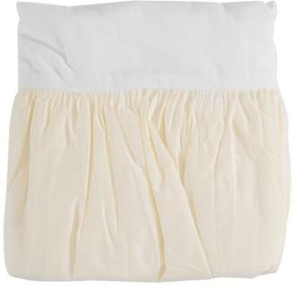 Tl Care Inc TL Care 100% Cotton Percale Yellow Crib Bed Skirt Pack