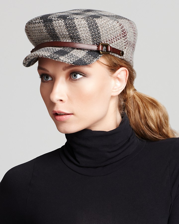 Burberry Smoked Check Military Wool Tilde Flat Cap