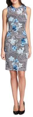 GUESS Mixed-Print Sheath Dress