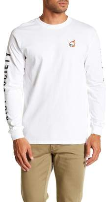 Riot Society Skull Flame Embroidery Long Sleeve Tee