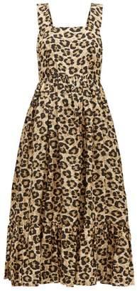 Shrimps Sylvia Leopard Print Silk Dress - Womens - Leopard