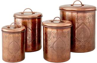 Old Dutch Tangier Etched Canisters (4 PC)