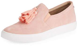 Donald J Pliner Sallie Suede Tassel Slip-On Sneakers