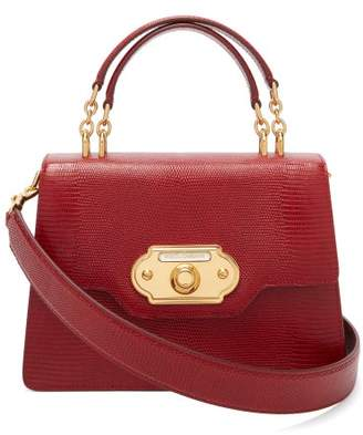 Dolce & Gabbana Welcome Iguana Effect Leather Bag - Womens - Red