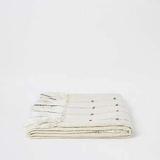 River Island Cream throw with gold thread