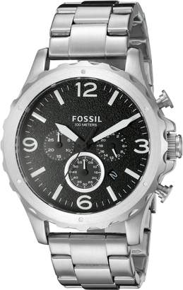 Fossil Men's JR1468 Nate Chronograph Stainless Steel Bracelet Watch