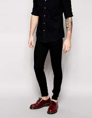 Cheap Monday Jeans Him Spray Skinny Fit Black