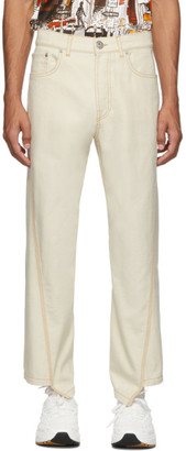 Lanvin Off-White Twisted Denim Jeans