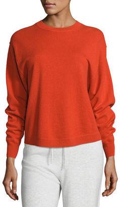 Vince Shirttail Cashmere Crewneck Sweater $320 thestylecure.com