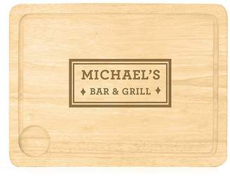 Lucky Roo Personalised 'Bar And Grill' Carving Board