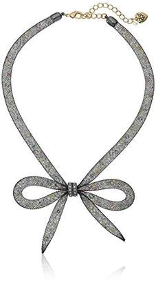 "Betsey Johnson Memoirs of Betsey"" Mesh Bow Necklace"