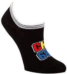 Calvin Klein Womens Varsity-Inspired Logo Liner Socks