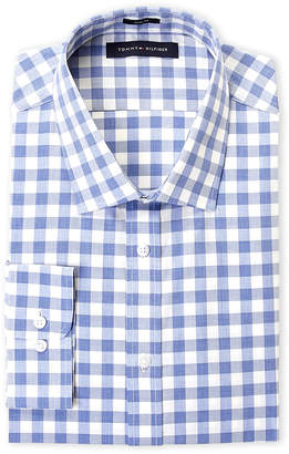 44dcc7b39 ... Tommy Hilfiger Blue Gingham Poplin Slim Fit Dress Shirt