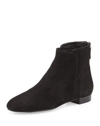 Delman Myth Suede Ankle Boot, Black $278 thestylecure.com