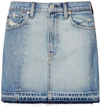 Ralph Lauren Denim & Supply Frayed Denim Skirt $125 thestylecure.com