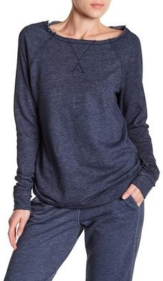 Allen Allen Long Sleeve Raglan Pullover $78 thestylecure.com