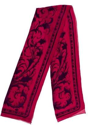 Gianni Versace Silk-Blend Patterned Scarf