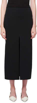 Proenza Schouler Double-Ribbed Slit Skirt