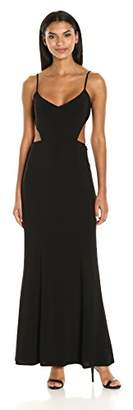Laundry by Shelli Segal Women's Side and Back Cut Out Gown