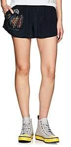 Mira Mikati Women's Embellished Silk Beach Shorts - Navy