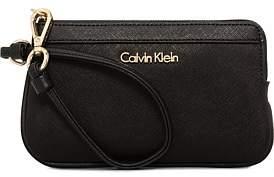 Calvin Klein Saffiano Wristlet Pouch