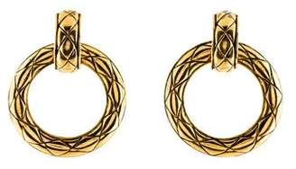 Chanel Clip-On Hoop Earrings