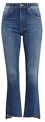 Mother Women's Insider High-Rise Frayed Hem Cropped Jeans