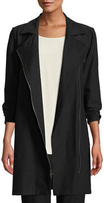 Eileen Fisher Washable Stretch Crepe Moto Jacket, Petite
