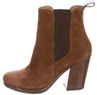 buy cheap low price Robert Clergerie Clergerie Paris Suede Square-Toe Boots sale genuine clearance under $60 very cheap sale online cyvc1diynB