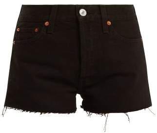 Re/Done Originals Re/done Originals - The Short Mid Rise Denim Shorts - Womens - Black