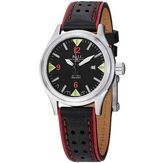 Ball Women's NL2088D-LJ-BKRD Fireman Analog Display Swiss Automatic Black Watch