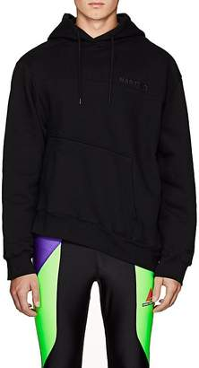 Martine Rose Men's Logo-Embroidered Cotton Twisted Hoodie