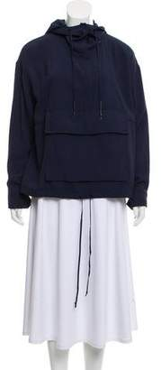 DKNY Hooded Button-Up Jacket