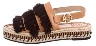 Tory Burch Leather Fringe Sandals