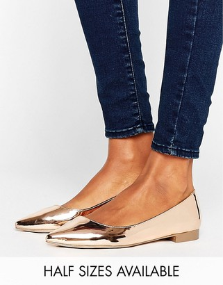ASOS LOST Pointed Ballet Flats $23 thestylecure.com