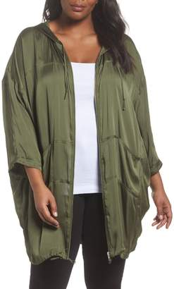 Sejour Oversized Satin Zip Jacket