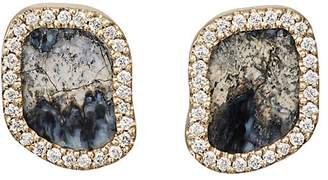 Monique Péan Women's White Diamond & Woolly Mammoth Tooth-Root Stud Earrings