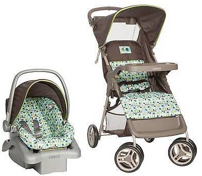 Cosco Cosco Lift & Stroll Travel System in Elephant Squares