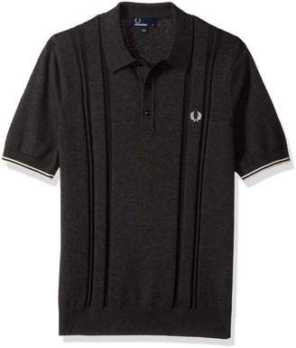 Fred Perry Men's Dropstitch Knitted Shirt,
