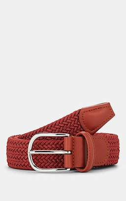 Barneys New York Men's Braided Elastic Belt - Orange