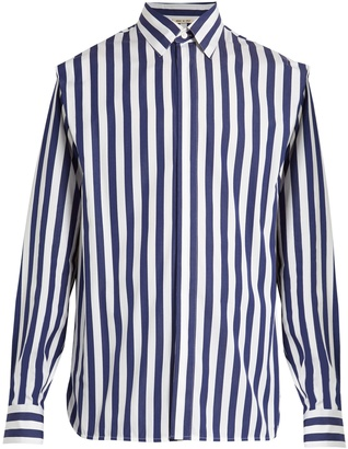 MARNI Striped cotton-poplin shirt $364 thestylecure.com