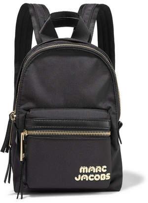 Marc Jacobs Trek Pack Mini Leather-trimmed Shell Backpack - Black