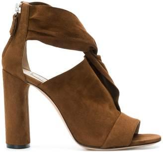 Casadei draped crossover sandals