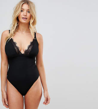 Wolfwhistle Wolf & Whistle Eyelash Lace Swimsuit DD - G Cup